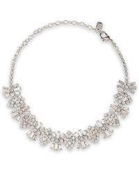 Elizabeth Cole - Rhodium-plated Swarovski Crystal Choker Silver - Lyst