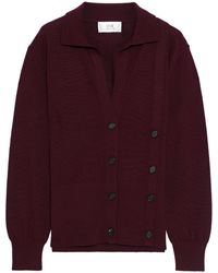 Victoria, Victoria Beckham Button-embellished Wool Cardigan - Multicolor