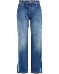 Victoria, Victoria Beckham High-rise Straight-leg Jeans Mid Denim - Blue
