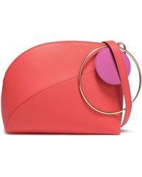 ROKSANDA Eartha Two-tone Textured-leather Shoulder Bag Papaya - Multicolour