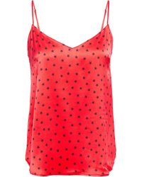Stella McCartney Printed Stretch-silk Satin Camisole Red