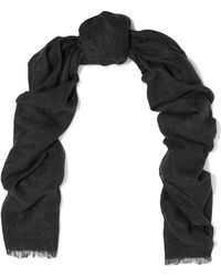 Brunello Cucinelli - Metallic Knitted Scarf - Lyst