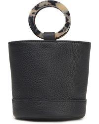 Simon Miller Bonsai Textured-leather Bucket Bag Animal Print - Black