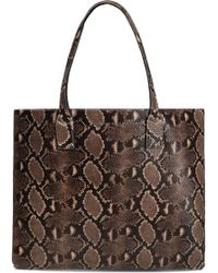 Marc Jacobs - Snake-effect Leather Tote Animal Print - Lyst