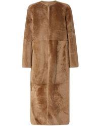 Yves Salomon Reversible Shearling Coat Light Brown