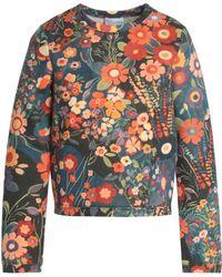 RED Valentino - Floral-print Cotton-neoprene Sweatshirt - Lyst