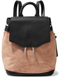 Rag & Bone Pilot Mini Suede And Leather Backpack Blush - Black