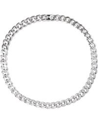 Noir Jewelry Chain Gang Rhodium-plated Crystal Choker Silver - Metallic
