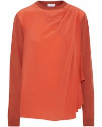 Vionnet - Silk Georgette-paneled Wool, Cashmere And Silk-blend Sweater - Lyst