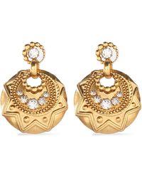Elizabeth Cole - Woman Gold-tone Crystal Earrings Gold - Lyst