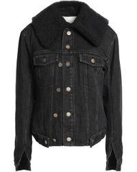 3.1 Phillip Lim - Faux Shearling-trimmed Denim Jacket - Lyst