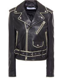 IRO Allumy Leather Biker Jacket Black