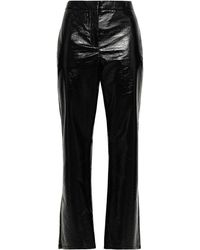 House of Dagmar Coated Woven Straight-leg Trousers - Black