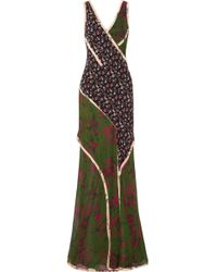 Jason Wu - Panelled Printed Silk-georgette Gown - Lyst