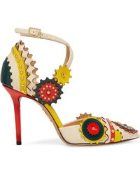 Charlotte Olympia - Mechanix Studded Leather Court Shoes - Lyst