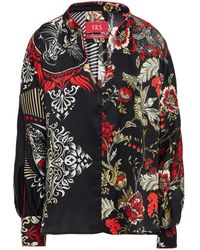 F.R.S For Restless Sleepers Anio Printed Silk-satin Crepe Top - Black