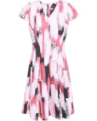 NWT DKNY Pink Collared Dress with Bows