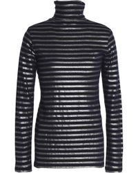 Majestic Filatures - Metallic Cotton And Cashmere-blend Turtleneck Top - Lyst