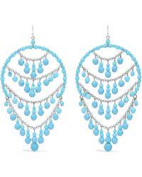 Ben-Amun - Silver-tone Beaded Earrings - Lyst