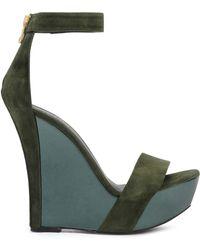 Balmain - High Heel Army Green - Lyst
