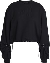 3.1 Phillip Lim - Ring-detailed French Cotton-terry Sweatshirt - Lyst