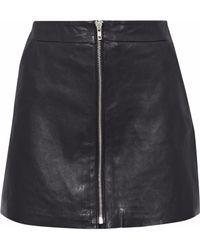 Muubaa - Leather Mini Skirt - Lyst