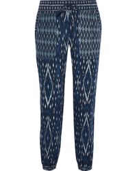 Soft Joie - Xolani Cropped Printed Poplin Tapered Trousers - Lyst