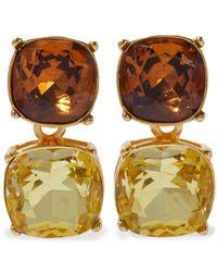 Kenneth Jay Lane 22-karat Gold-plated Crystal Clip Earrings Multicolor - Metallic