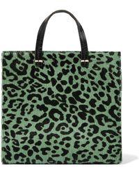 9d108b7d9c46 Hot Clare V. - Woman Petit Simple Calf Hair-paneled Leather Shoulder Bag  Animal Print