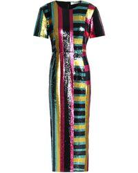 Diane von Furstenberg Saxon Stripe Sequin Dress - Multicolour