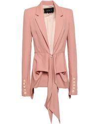 Kitx Draped Wool-twill Blazer Blush - Pink