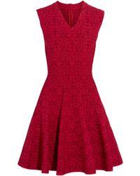 Alaïa - Jacquard-knit Mini Dress - Lyst