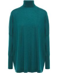 N.Peal Cashmere Cashmere Turtleneck Sweater - Green