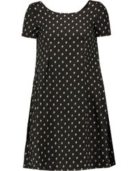 R13 - Babydoll Printed Silk-voile Mini Dress - Lyst