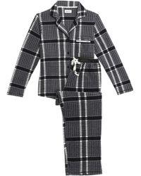 DKNY - Checked Flannel Pyjama Set - Lyst