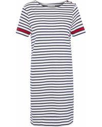 Chinti & Parker - Striped Organic Cotton-jersey Mini Dress - Lyst
