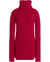 Ann Demeulemeester - Ribbed Wool And Cashmere-blend Turtleneck Jumper - Lyst
