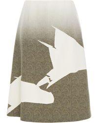 Maison Margiela Dégradé Printed Wool Skirt - White