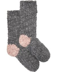 Eberjey The Scout Knitted Socks - Grey