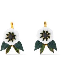 Elizabeth Cole - 24-karat Gold-plated, Resin And Swarovski Crystal Earrings Gold - Lyst