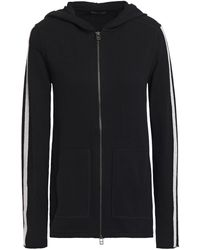 ATM Striped Cotton And Cashmere-blend Hooded Track Jacket Black