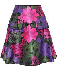 Oscar de la Renta - Neon Neoprene Mini Skirt - Lyst