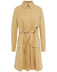 Moschino Embellished Cotton-blend Gabardine Trench Coat - Natural