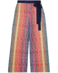 Mary Katrantzou Rigo Jacquard Knit Trousers - Pink