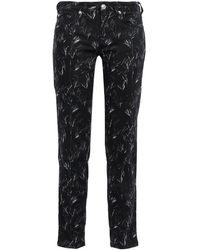 Versus Printed Mid-rise Slim-leg Jeans Black