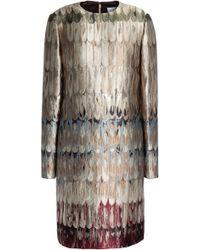 Valentino - Metallic Brocade Mini Dress - Lyst