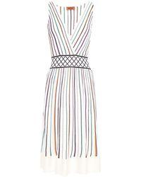 Missoni - Jacquard-trimmed Striped Ribbed-knit Dress - Lyst