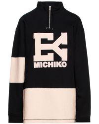 Eytys Gamma Fleece-paneled Embroidered French Cotton-terry Sweatshirt - Black
