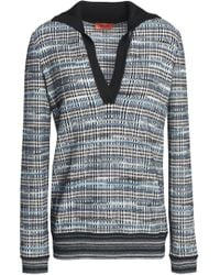 Missoni - Checked Jacquard-knit Wool-blend Sweater - Lyst