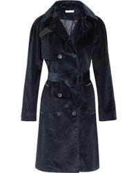 Tomas Maier Cotton-corduroy Trench Coat - Blue